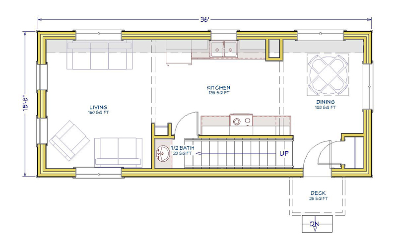 16x36-2Bed-1Level